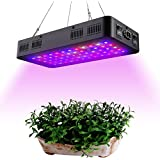 Comzler LED Plant Grow Light 600W, Full Spectrum Double Switch for Indoor Plants Veg and Flower, IR&UV Growing Lamp Kits with Daisy Chain Function for Greenhouse Hydroponic Plants