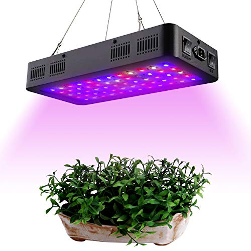 (Comzler LED Plant Grow Light 600W, Full Spectrum Double Switch for Indoor Plants Veg and Flower, IR&UV Growing Lamp Kits with Daisy Chain Function for Greenhouse Hydroponic)