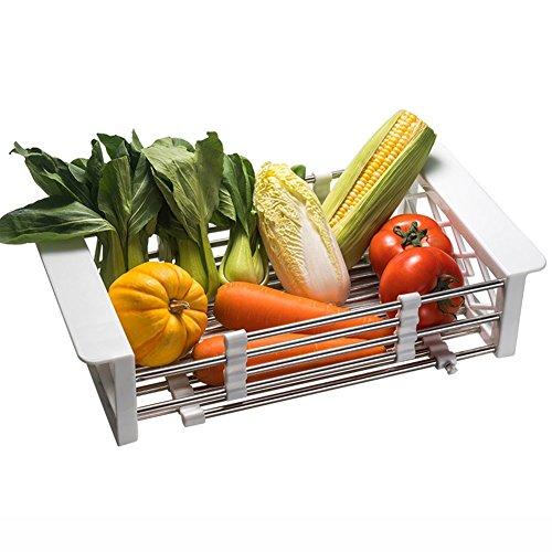 Over Sink Drying Rack Dish Vegetables Rack Over Sink Shelf D