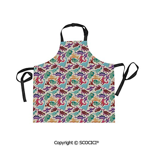 SCOCICI Fabric Durable Unisex Apron with 2 Pockets-Extra