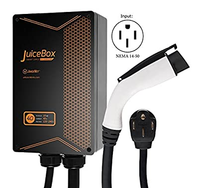 JuiceBox 40A EV Charger / Home Level 2 Electric Vehicle Charging Station with 24' Cord