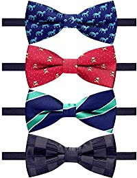0eacc7d2ec2 4 Packs Adjustable Pre-tied Bow Tie for Infant baby boys Toddler Child Kids  in