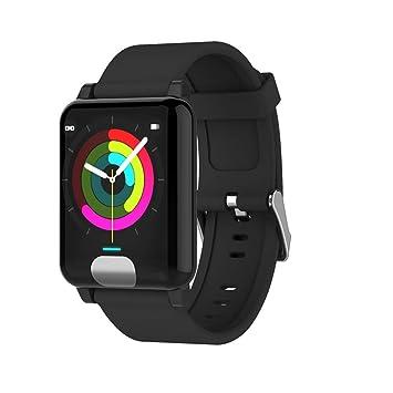 YIGIAO Smart Bracelet Fitness Tracker - Tensiómetro, Negro: Amazon.es: Deportes y aire libre