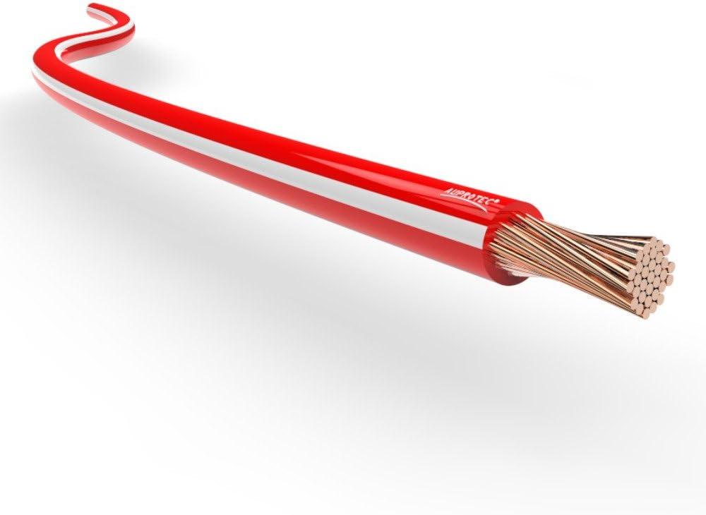 Auprotec Fahrzeugleitung 0 75mm 1mm 1 5mm Längen 5m Oder 10m 5m 1 5 Mm Rot Weiß Auto