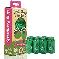 Biodegradable Dog Poop Bag, Green Sheep Brand (HDPE) and D2WStrong Poop Bags for Dogs, Vegetable-Based 100% Leak-proof 4…