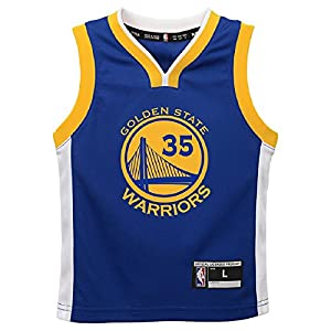 OuterStuff Kevin Durant Golden State Warriors NBA Kids Blue Road Replica Jersey