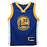 OuterStuff Kevin Durant Golden State Warriors NBA Kids Blue Road Replica Jersey (Kids 5/6)