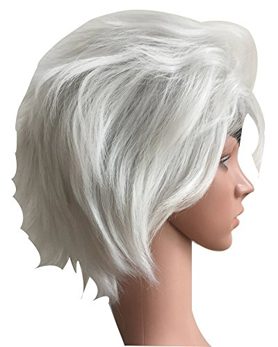 Tsnomore Seven Deadly Sins Short Grey Cosplay Wig (Halloween Costumes Overnight Shipping)