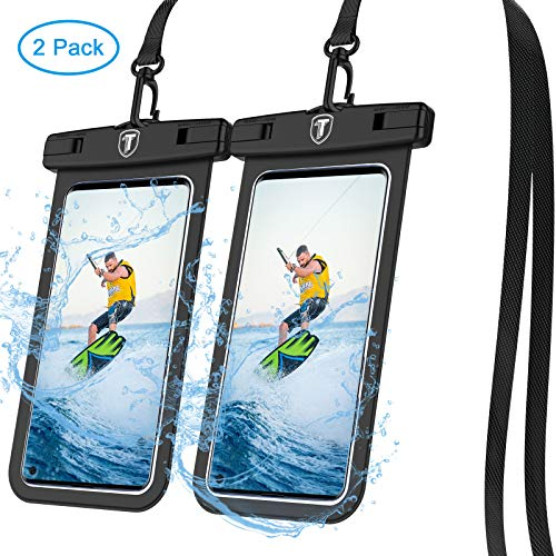 Tiflook Waterproof Phone Pouch,2019 Waterproof Cell Phone Case Underwater Dry Bag Pouch Fit for Samsung Galaxy S10e S10 S9 S8 Plus/Note 9 8,S7 Edge,S6,J7 Crown,J3 2018,up to 6.5