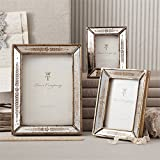 Set of 3 Gold Leaf Photo Frames Includes 3 Different Sizes