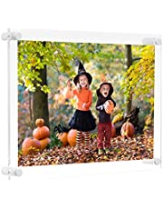 NIUBEE Clear Acrylic Wall Mount Picture Frame Floating Frames for Photography Display