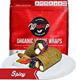 Raw Organic Spicy Veggie Wraps | Wheat-Free, Gluten Free, Paleo Wraps, Non-GMO, Vegan Friendly Made in the USA (8 Pack)