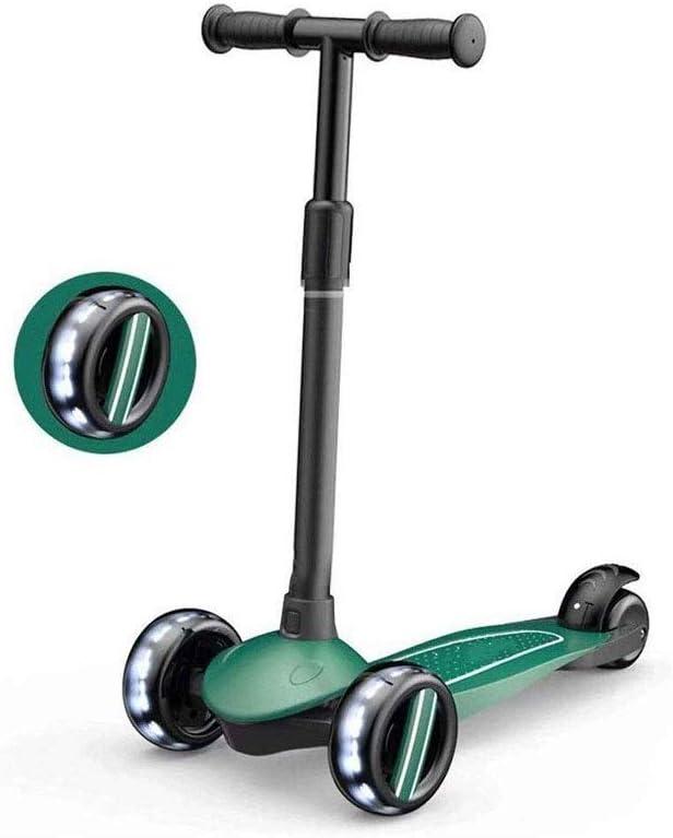 JINDEN Moto for niños de Edad 3-14 - Ajustable Equilibrio Mini Kick Scooters - for niños y niñas - con Extra Ancho Cubierta y 3 Led Intermitente Ruedas