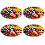 MSD Natural Rubber Round Coasters IMAGE ID 26303859 abstract colorful pattern based on fractal