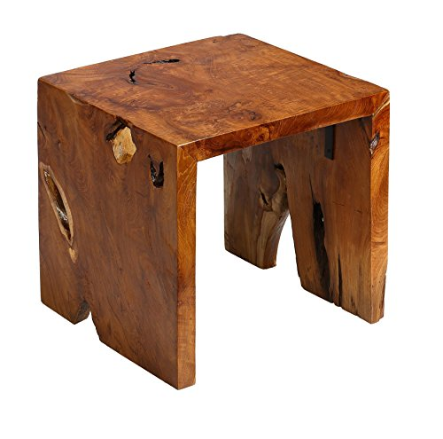 Bare Decor Arch Accent Table In Solid Teak Wood