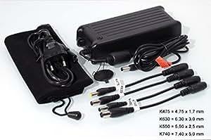 90W–Fuente de alimentación universal para Lenovo 3000G510, G550, G450, G430, 19V, 4,74A, 90W, se incluye cable de alimentación) &–Estuche de viaje (Original Proveedores de Medion)