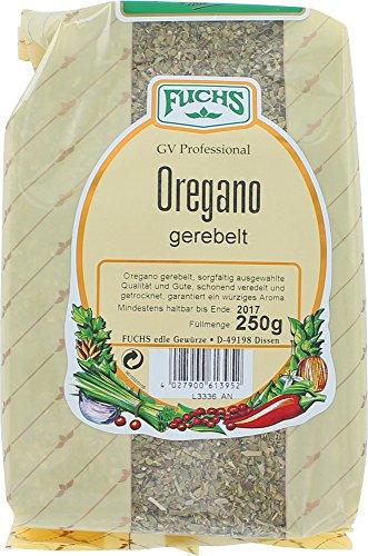 FUCHS Oregano gerebelt, 4er Pack (4 x 250 g)
