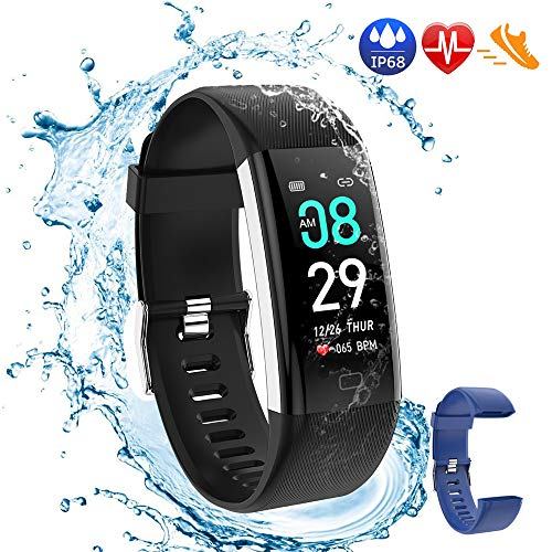 Damaiu Fitness Tracker, Activity Tracker Watch with Heart Rate Blood Pressure Blood Oxygen Sleep Monitor,IP68 Waterproof Smart Step Counter Calorie Counter Pedometer Watch for Women Men Kids