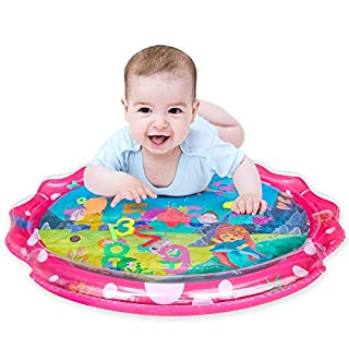"""SEETOYS Tummy Time Baby Mermaid Water Mat, Infant Toy Largest 30"""" by 24.4"""", Inflatable Baby Play Activity Center for Boy&Girl Baby Toys 3 to 12 Months Baby"""