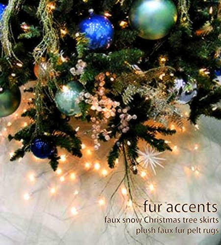 Fur Accents Christmas Holiday Tree Skirt, Plush Shaggy Faux Fur (Snow White, 70'' Diameter) by Fur Accents (Image #1)