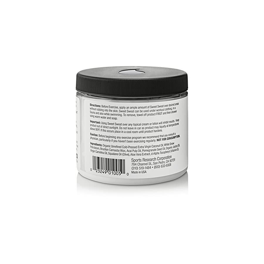 Sweet Sweat Coconut 'XL' Jar (13.5oz) | Helps increase Circulation, Motivation & Sweat during exercise | Manufactured in the USA