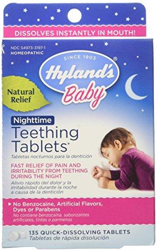 De Hyland comprimés nuit dentition bébé, douleurs de dentition bébé naturel et irritabilité Relief, comte 135