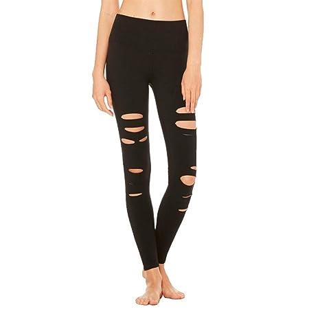 PengShi Pantalones de Yoga, Pantalones de chándal Ajustados ...