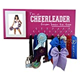 Cheerleading Medal Display - I'm A Cheerleader from Bow to Toe - Wall Hanger for Cheerleader Awards and Ribbons - Medal Holder