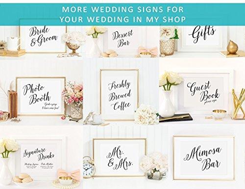 modern wedding programs table sign modern wedding reception signs