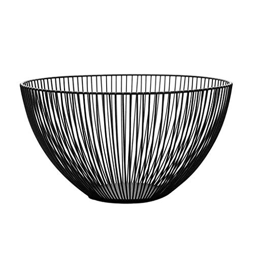 (Nordic Simple Fruit Basket, Wrought Iron Drain Basket, Modern Creative Kitchen Basket, Snack Tray Bowl Basket, Storage Rack Holder for Kitchen Counter, Cabinet and Pantry (9.8