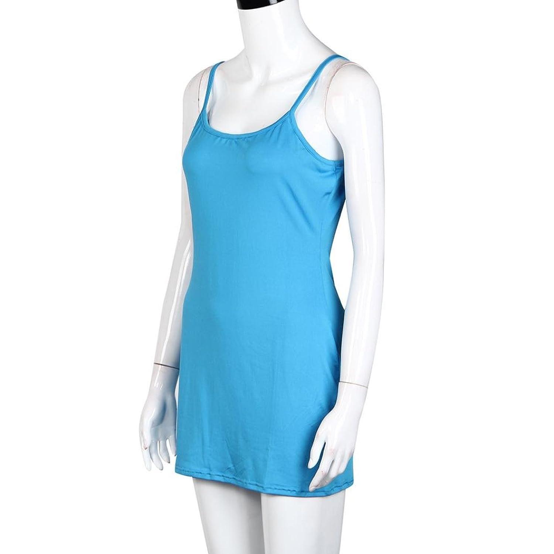 Kingko Women Vest Tops Long Pure Colour Camisole Sleeveless T-Shirt  Spaghetti Strap Tank: Amazon.co.uk: Clothing