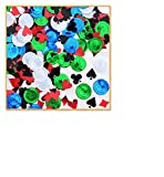 Pack of 6 Multi-Colored Poker Party Celebration Confetti Bags 0.5 oz.