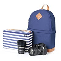 Koolertron Professional Women Canvas Camera Case/Backpack For SLR DSLR Canon Nikon Camera Shoulder Bag Canon by Koolertron