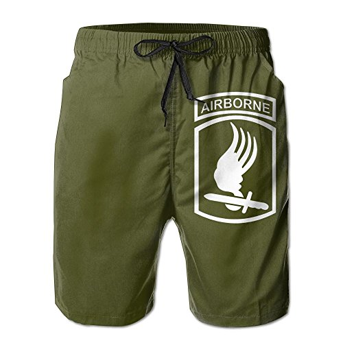 Tobyy Pants US Army 173rd Airborne Brigade Drawstring Swim Trunks Quick-Drying Boardshorts for ()