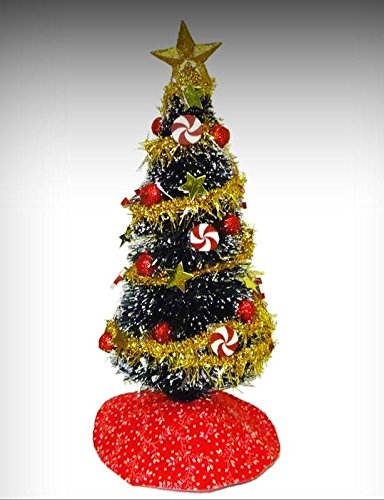 Christmas Dollhouse Miniatures.Amazon Com Decorated Peppermint Swirl Christmas Tree With