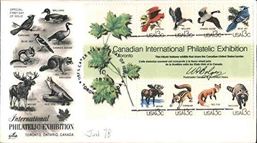 International Philatelic Exhibition - Toronto, Ontario, Canada Block of Stamps Original First Day (Stamp Exhibition Block)