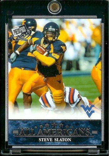 2008 Press Pass NFL Card # 87 Steve Slaton RB WVU - All Americans - Rookie Insert Football Card
