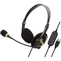 nakw88 Ordenador Auriculares Cascos, Teléfono Auriculares USB o 3.5mm Integrada Unidireccional Micrófono para Escritorio…