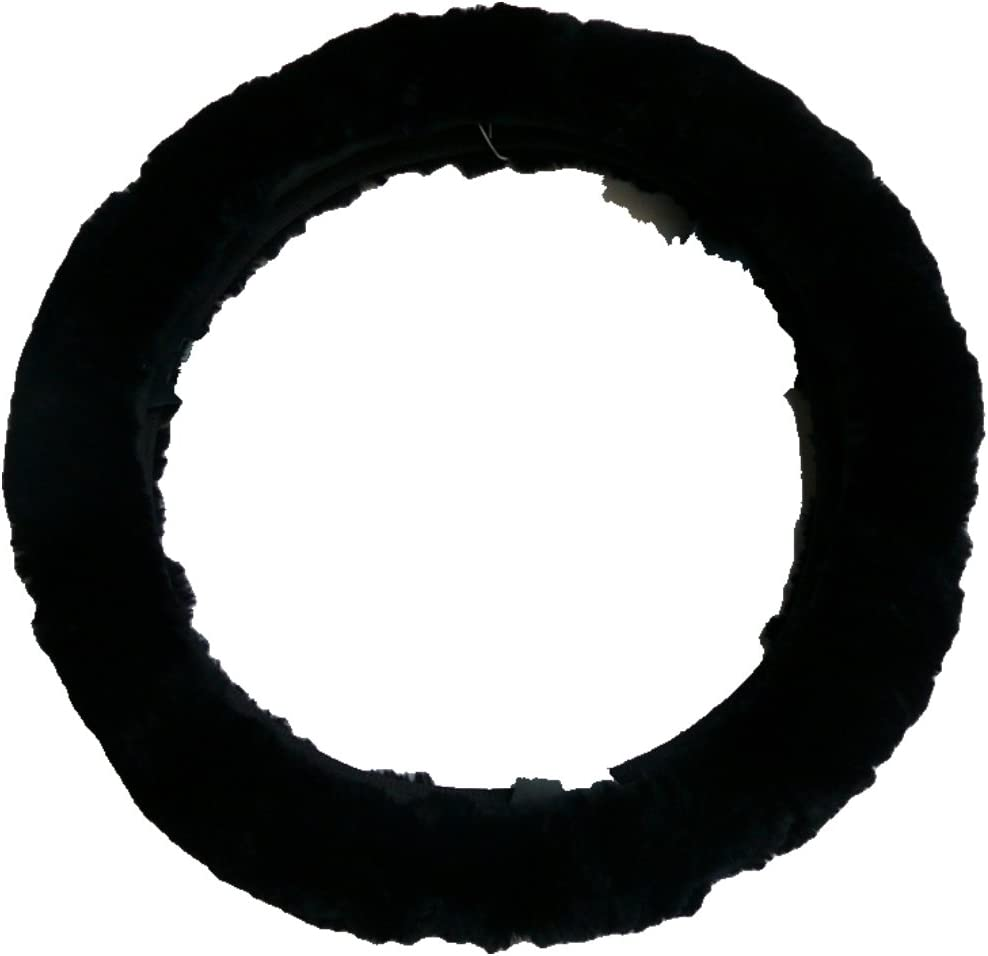 Woolworks Australian Sheepskin Steering Wheel Cover Charcoal