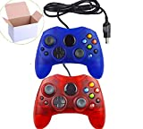 Mekela Classic wired Controller Gamepad for Xbox S-Type (ClearBlue and ClearRed)