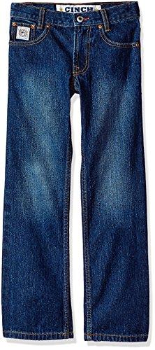e Label Regular Jeans, Dark Stone Wash, 10R (Boys Cinch)
