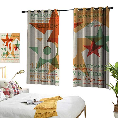Superlucky Decorative Curtains for Living Room,58th Birthday,55