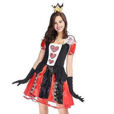 AOGOTO-Falda para Mujer de Halloween, Disfraz Vintage de la Reina ...