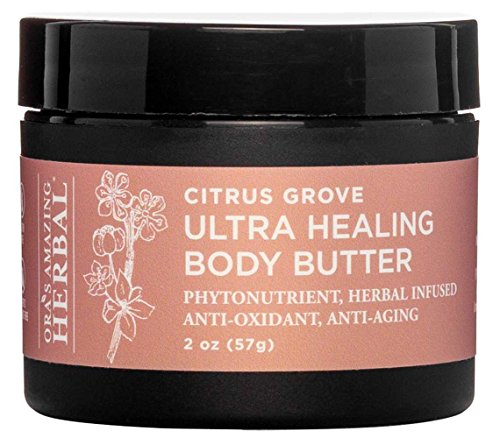 Ultra Healing Shea Body Butter and Intensive Moisturizer for Very Dry Skin, Coconut Free Lotion, Paraben Free Hand Cream (Citrus Grove Scent) Ora's Amazing Herbal Organic Shea Butter, Vegan Hand (Grove Scent)