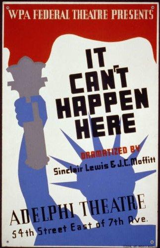 Photo: WPA Federal Theatre,It Can't Happen Here,Adelphia Theater,New York,NY,c1936