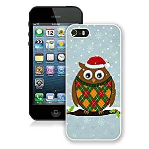 Popular Sell Design Iphone 5S Protective Cover Case Christmas Owls iPhone 5 5S TPU Case 2 White