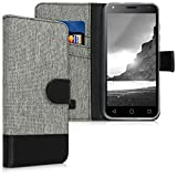 "kwmobile Wallet Case for Alcatel 1 (5.0"") - Fabric and PU Leather Flip"
