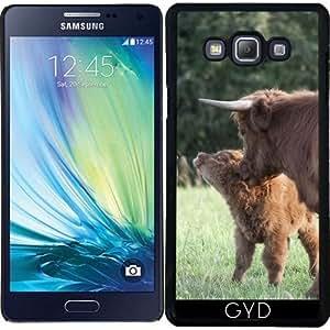 Funda para Samsung Galaxy A7 (SM-A700) - Vaca Con Pequeño Becerro by UtArt