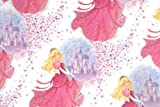 4 x Sparkling Stars, Princess in Pink & Castle, Girls Birthday Gift Wrap - Luxury Wrapping Paper