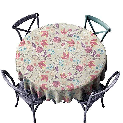 - Lcxzjgk Restaurant Tablecloth Pastel Fresh Spring Field Gardening Plants Flowers Cute Retro Tulip Peony Blossoms Twigs Multicolor Excellent Durability D63
